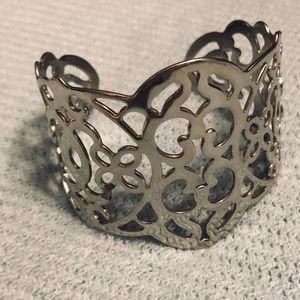 Premier Designs Metallic Silver Cuff Bracelet